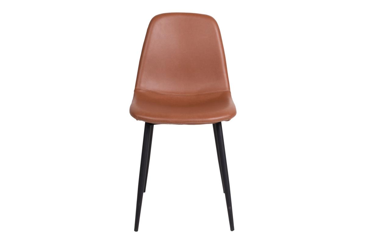 Designová jídelní židle Myla, vintage hnědá