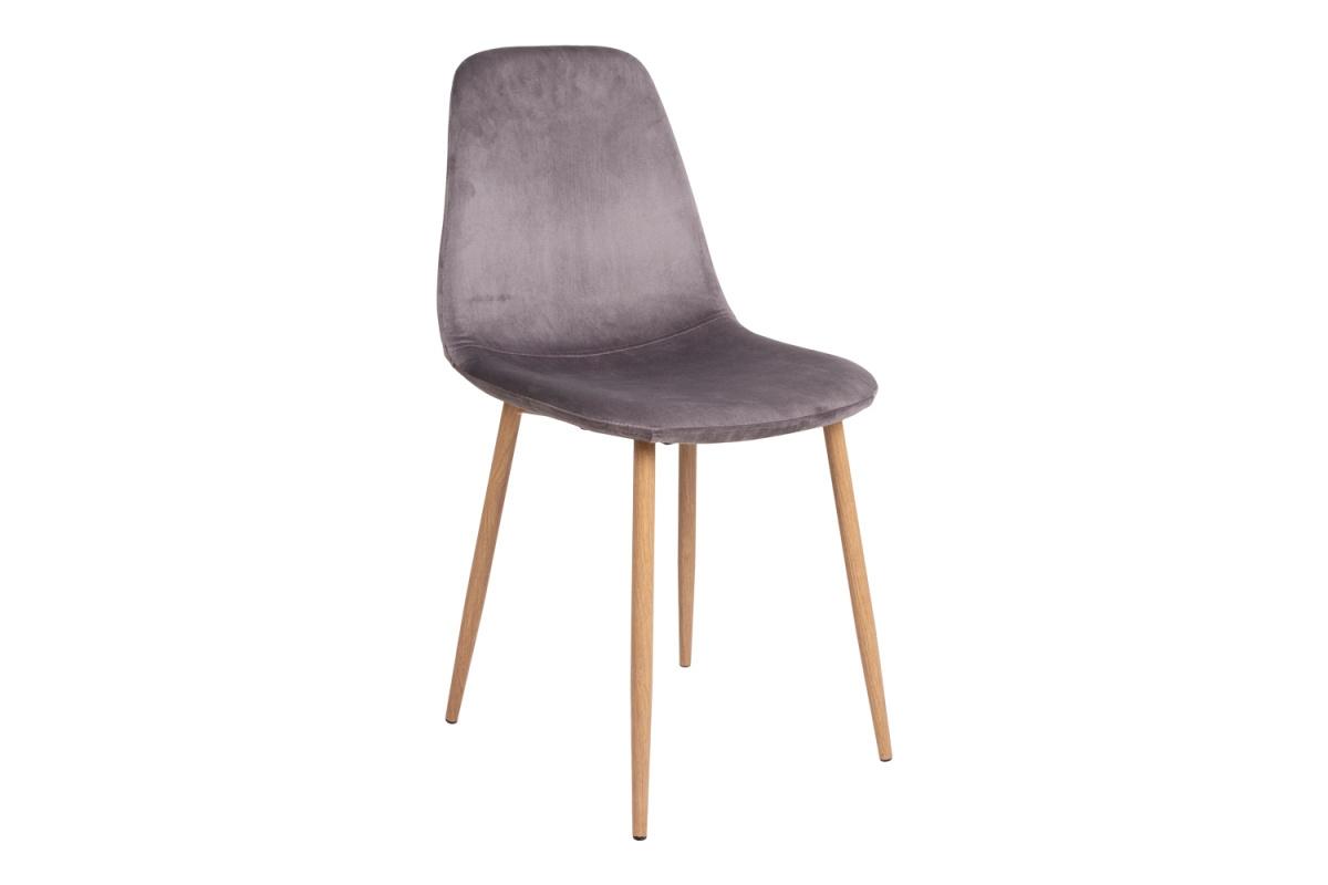 Designová jídelní židle Myla, šedá, světlé nohy