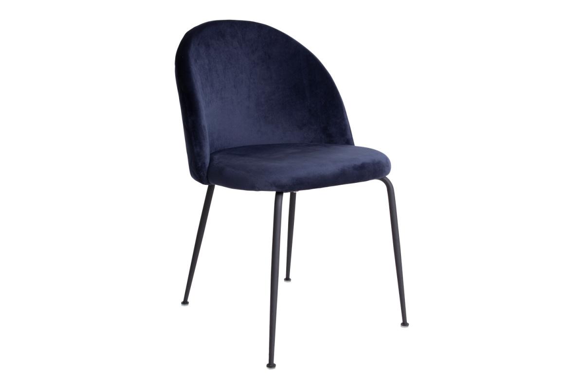 Designová židle Ernesto, modrá / černá
