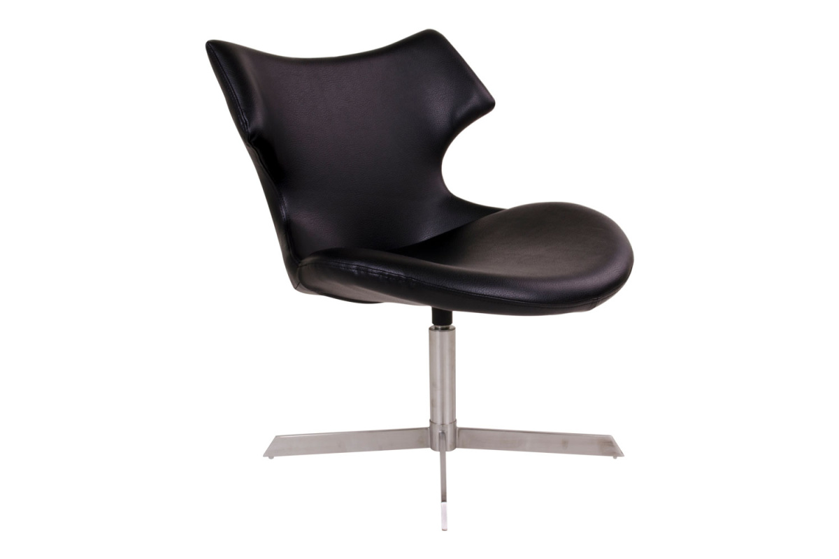 Designová židle Khloe, černá koženka