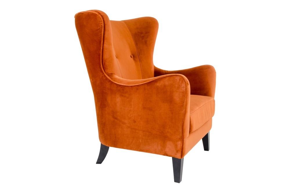 Designové křeslo Julian, oranžový samet