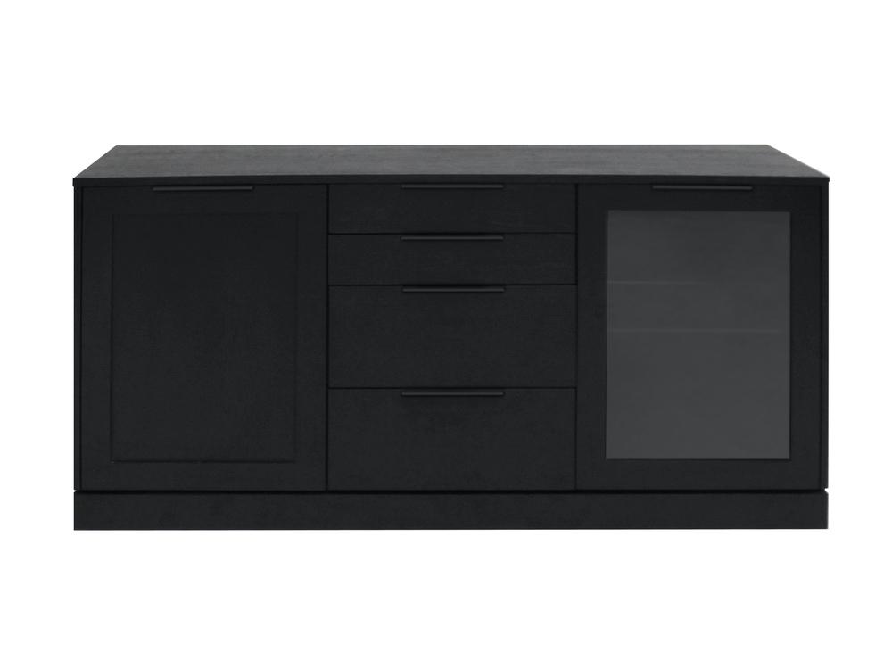 Designová komoda Franco / 2 dveřová černá
