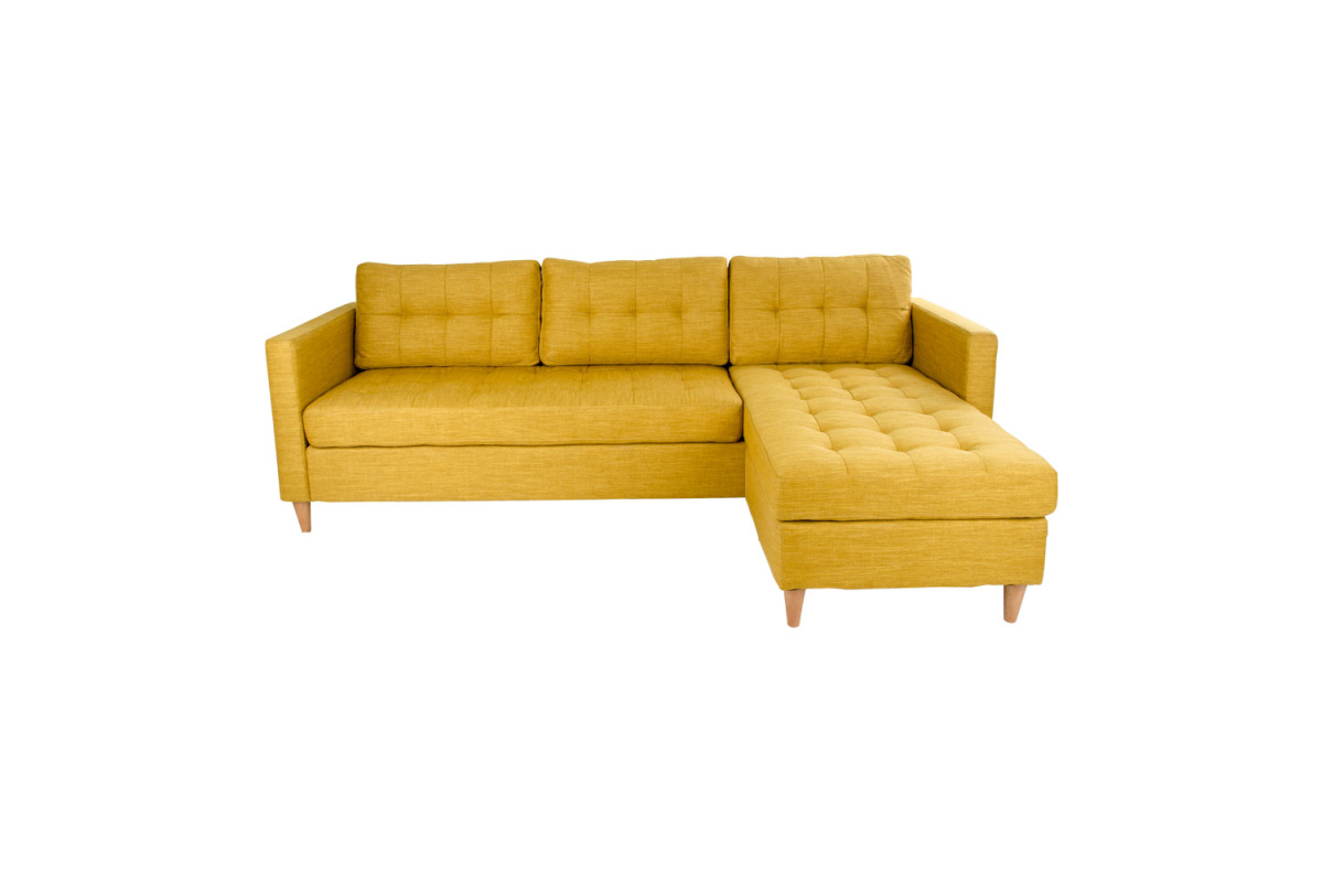Designová sedačka Brianna, žlutá kari