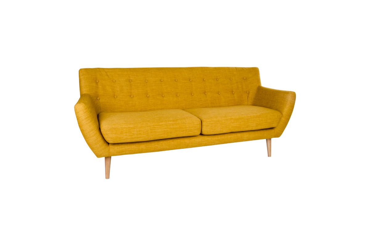 Designová sedačka Aaliyah, kari žlutá