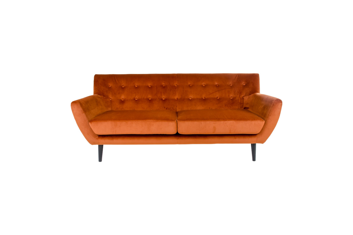 Designová sedačka Aaliyah, oranžový samet