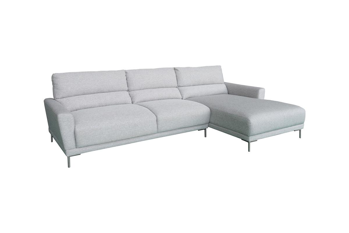 Designová sedačka Gary, světle šedá, pravá