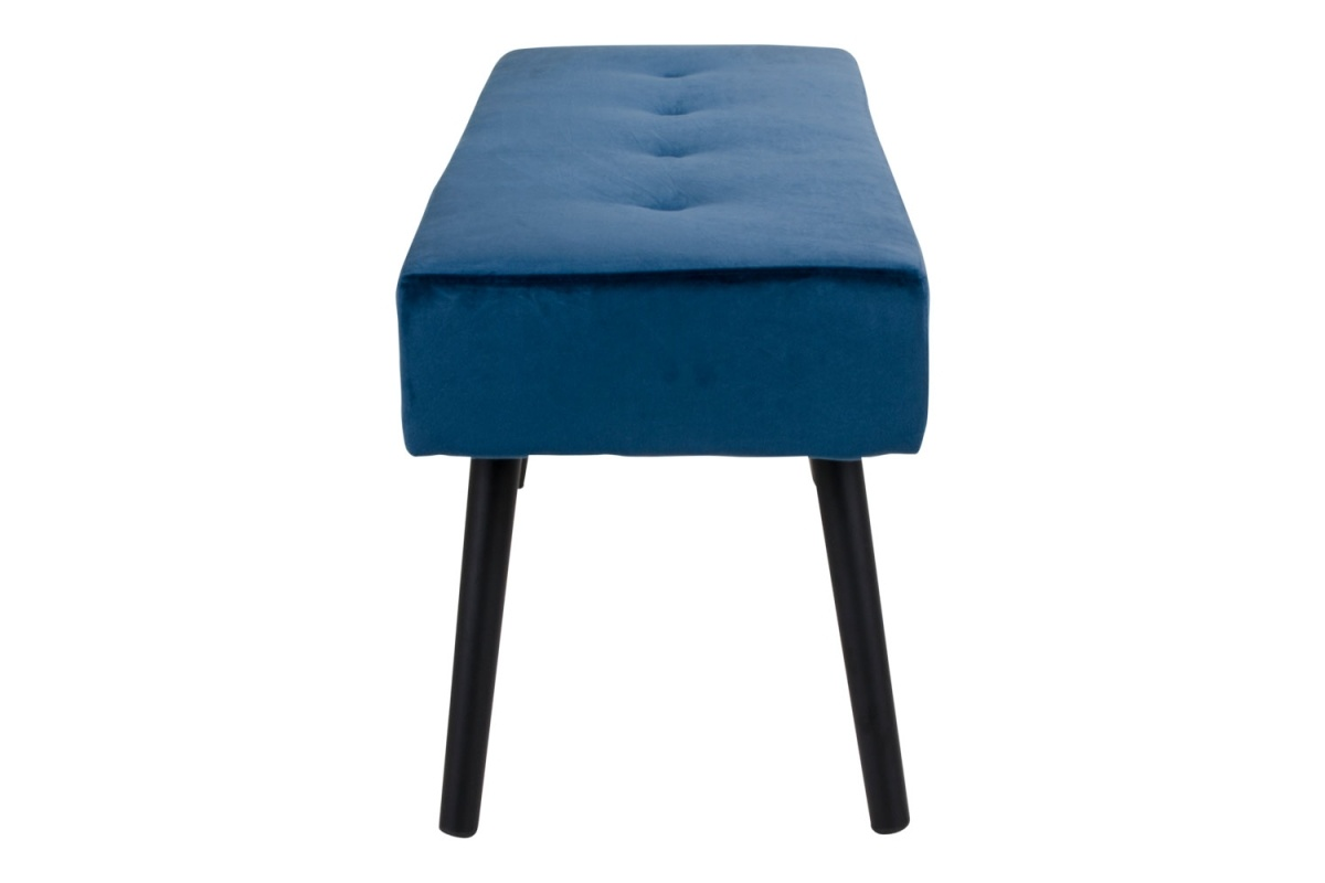 Designová lavice Elaina, tmavomodrý samet