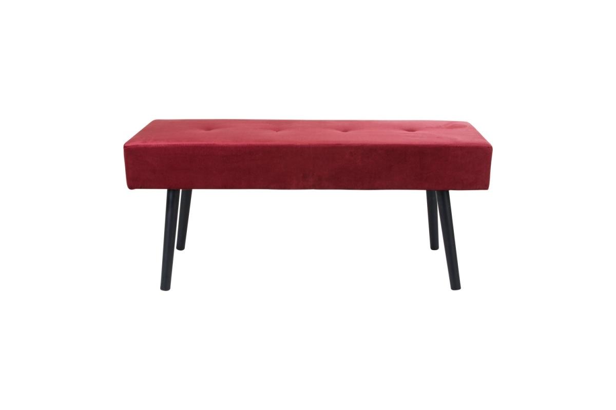 Designová lavice Elaina, červený samet