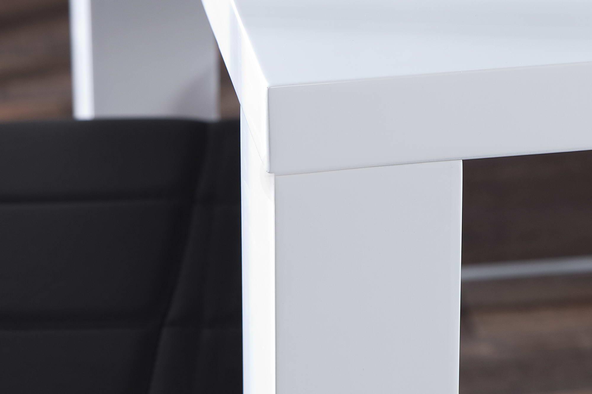 Jídelní stůl bílý vysoký lesk Radiant 140cm