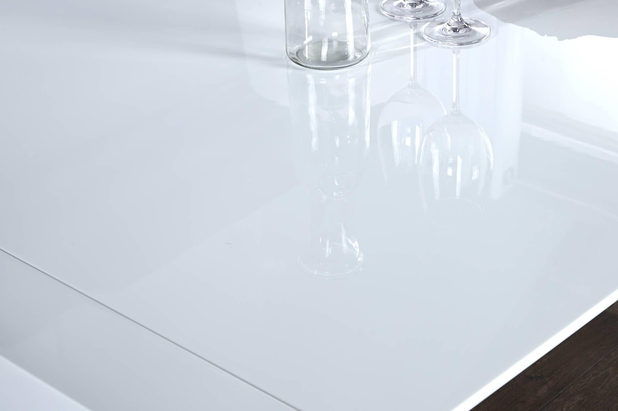 Jídelní stůl bílý rozkládací Limousine 180-260cm