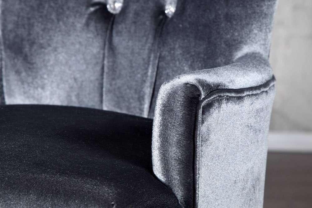 Křeslo Jewelry šedé