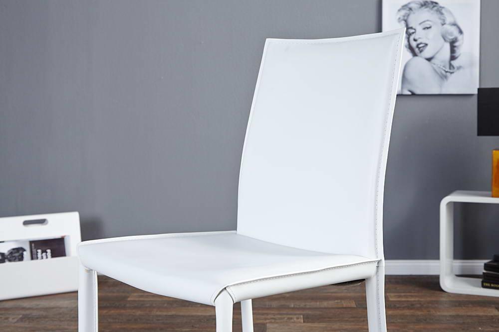 Židle Neapol bílá kůže