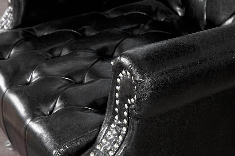 Královské křeslo King černé