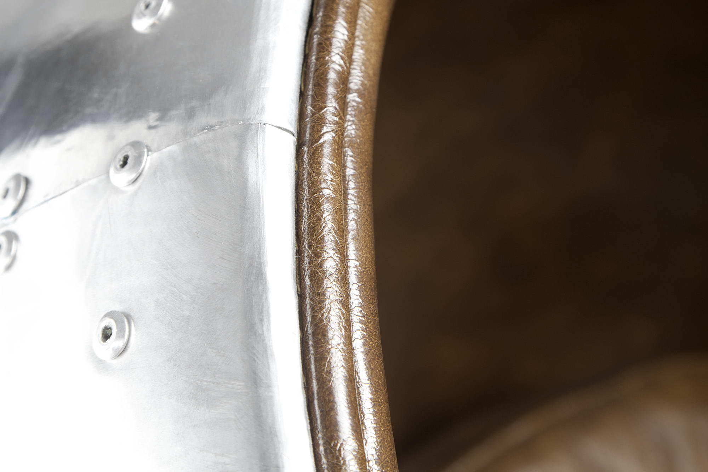 Designové křeslo Space Egg silver