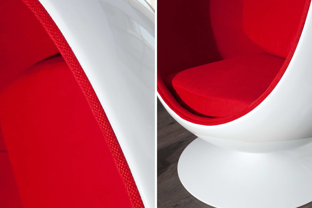 Designové křeslo Space Egg White Red