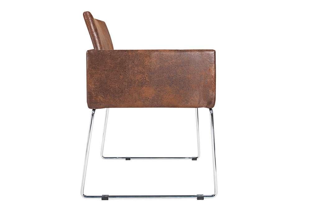 Židle Officio hnědá vintage