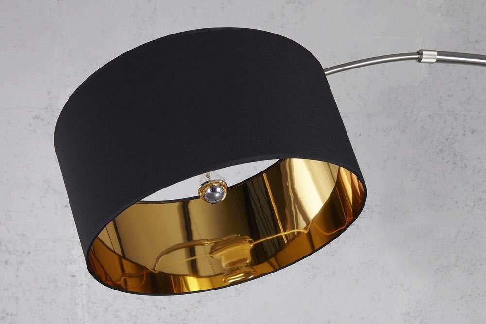 Stojanová lampa SNAKE černo zlatá - Skladem na SK