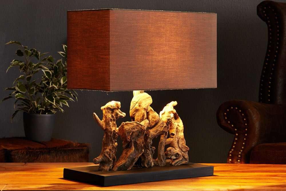 Stolní lampa z naplaveného dřeva NATURE