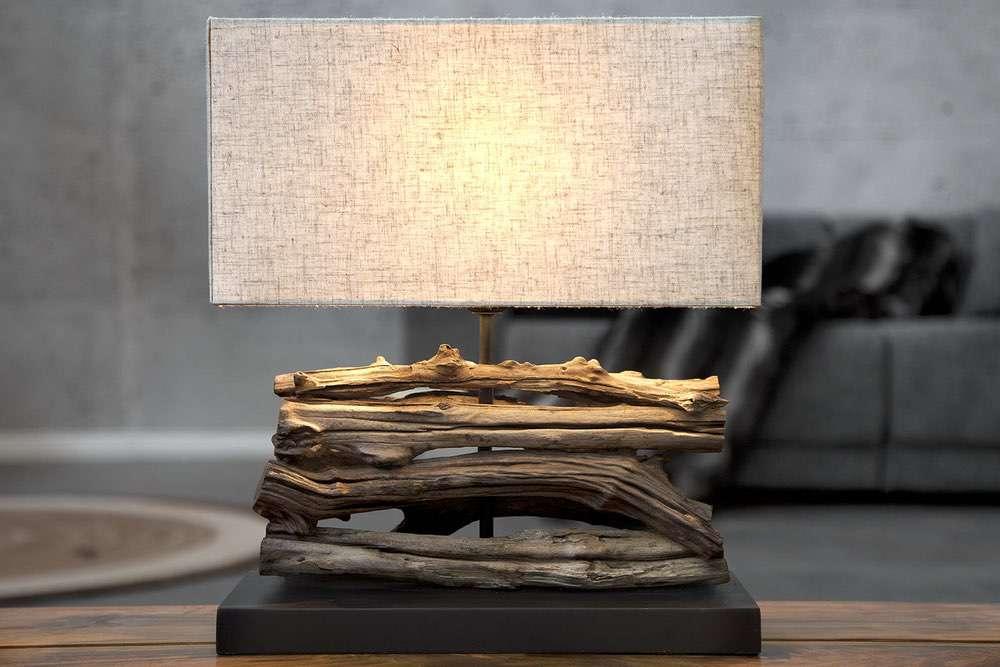 Stolní lampa FERRE béžová