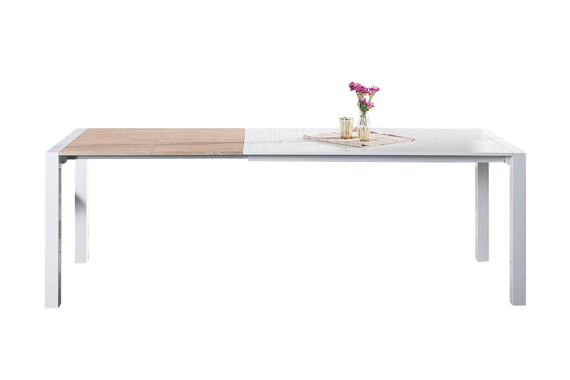 Jídelní stůl bílý rozkládací Limousine 135-175-215cm
