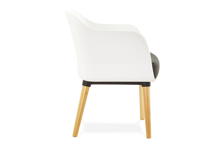 Designové křeslo Flyn bílo-šedé