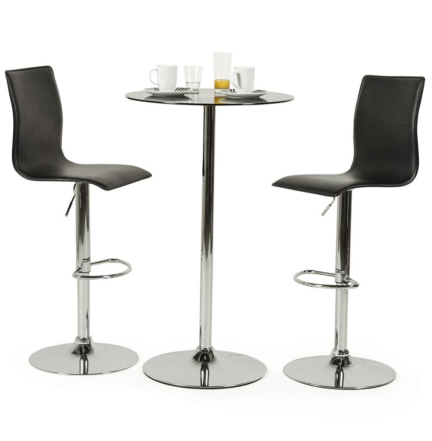 Designová barová židle Liam černá
