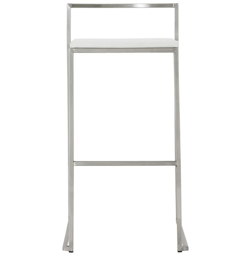 Designová barová židle Ethan bílá