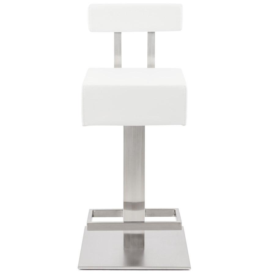 Moderní barová židle Ryan bílá - II. třída