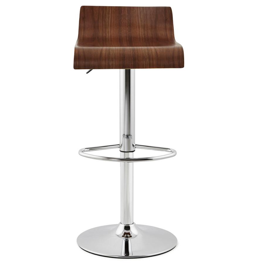 Moderní barová židle Eli hnědá