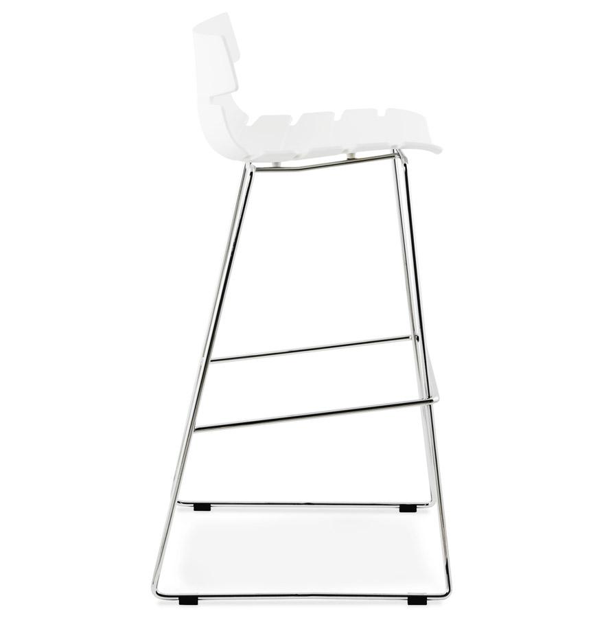 Moderní barová židle Brayden bílá