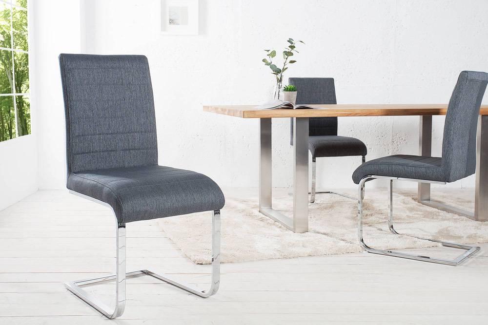 Židle Gilbert šedá II