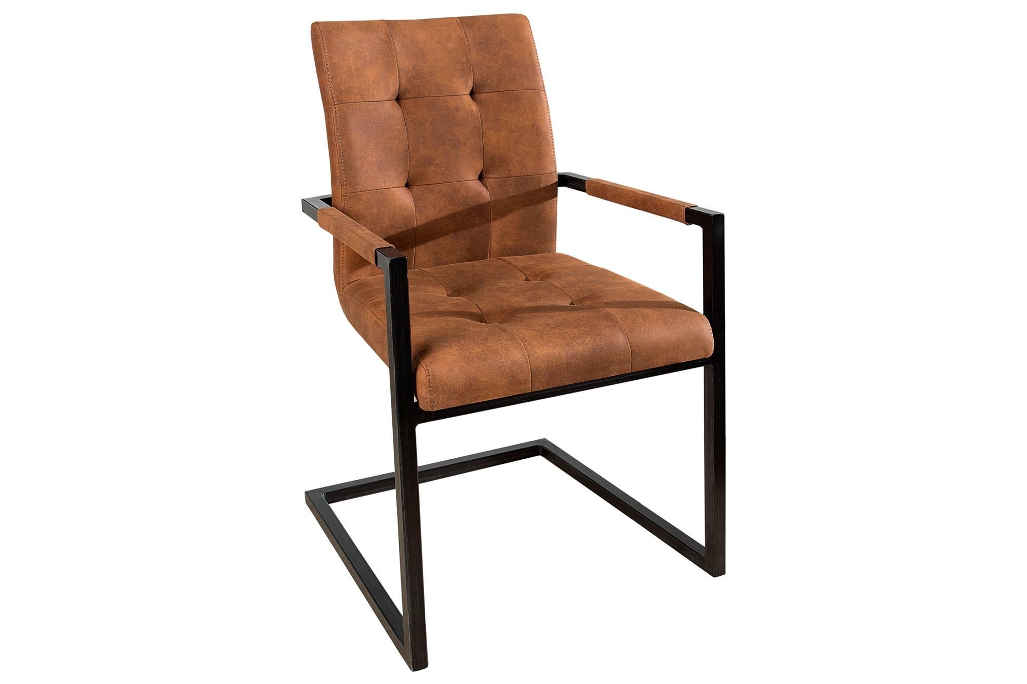 Jídelná židle vintage English hnědá s opěradlem