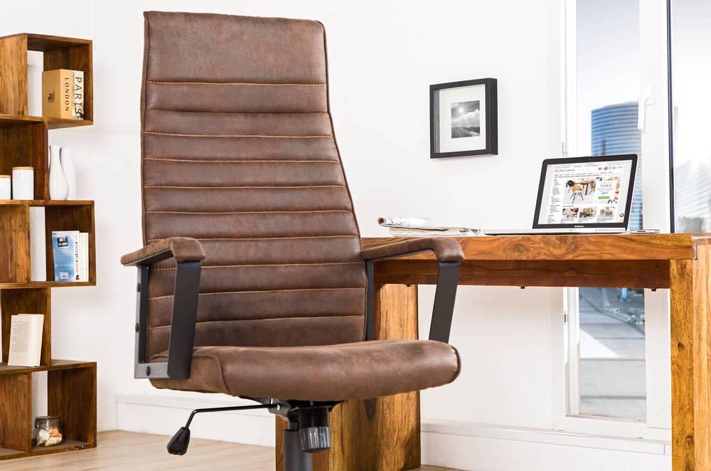 Kancelářská židle Roma Vintage hnědá 125cm