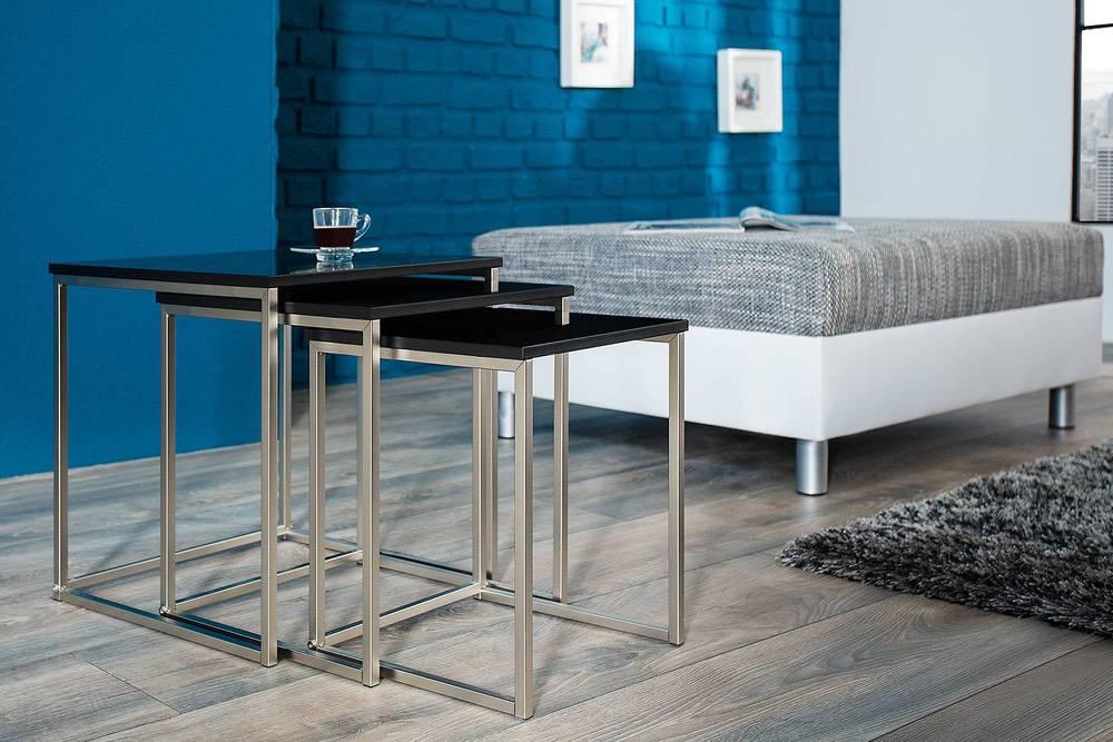 Konferenční stolek 3-set Fiesta II černý