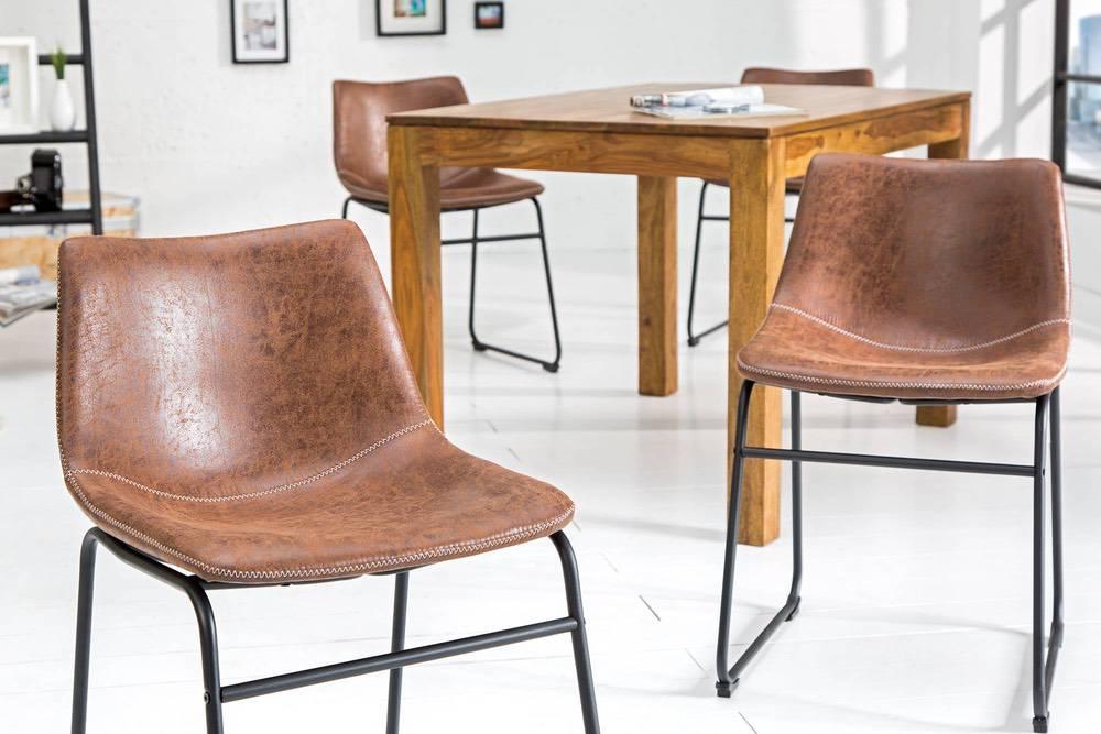 Dizajnová židle Alba hnědá