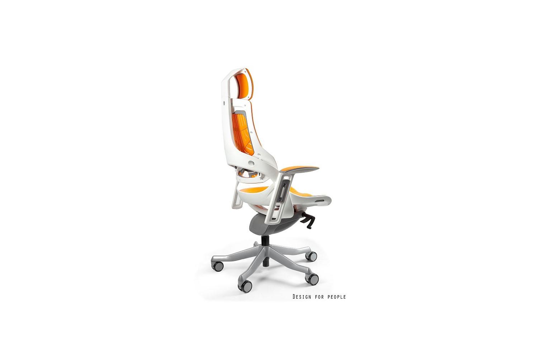 Kancelářská židle Wanda bílý podklad elastomer šedá