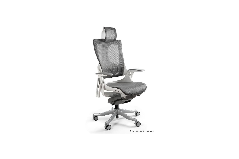 Kancelářská židle Wanda II - síťová bílý podklad olivová - otevřené balení