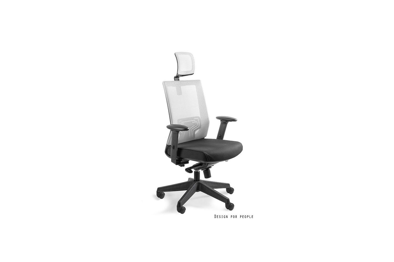 Kancelářská židle Nataly s barevným opěradlem a opěrkou hlavy