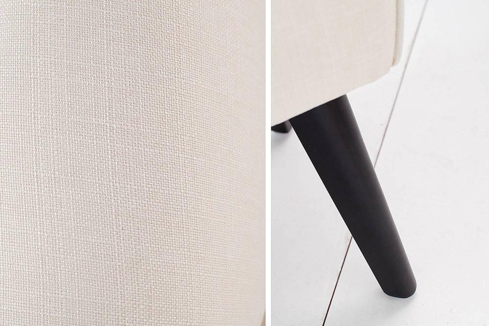 Dizajnová lavice Charlotte 90 cm krémová