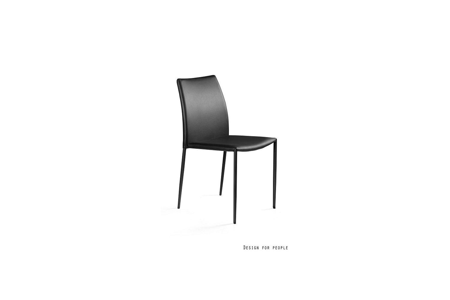 Dizajnová židle Azura eko  kůže - černá/bílá