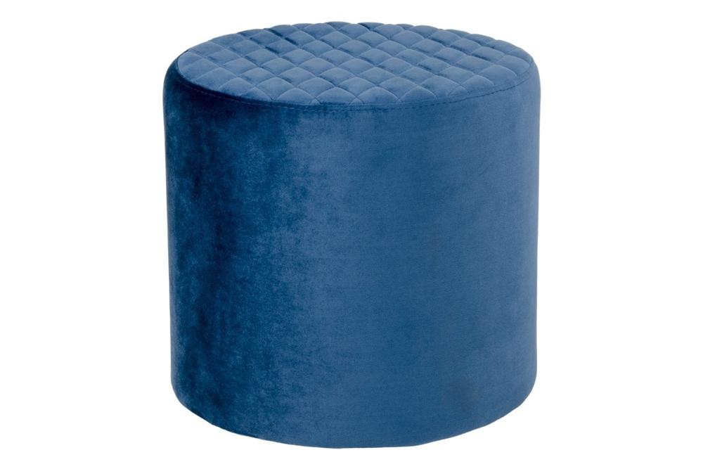 Designová taburetka Kiera, modrý samet