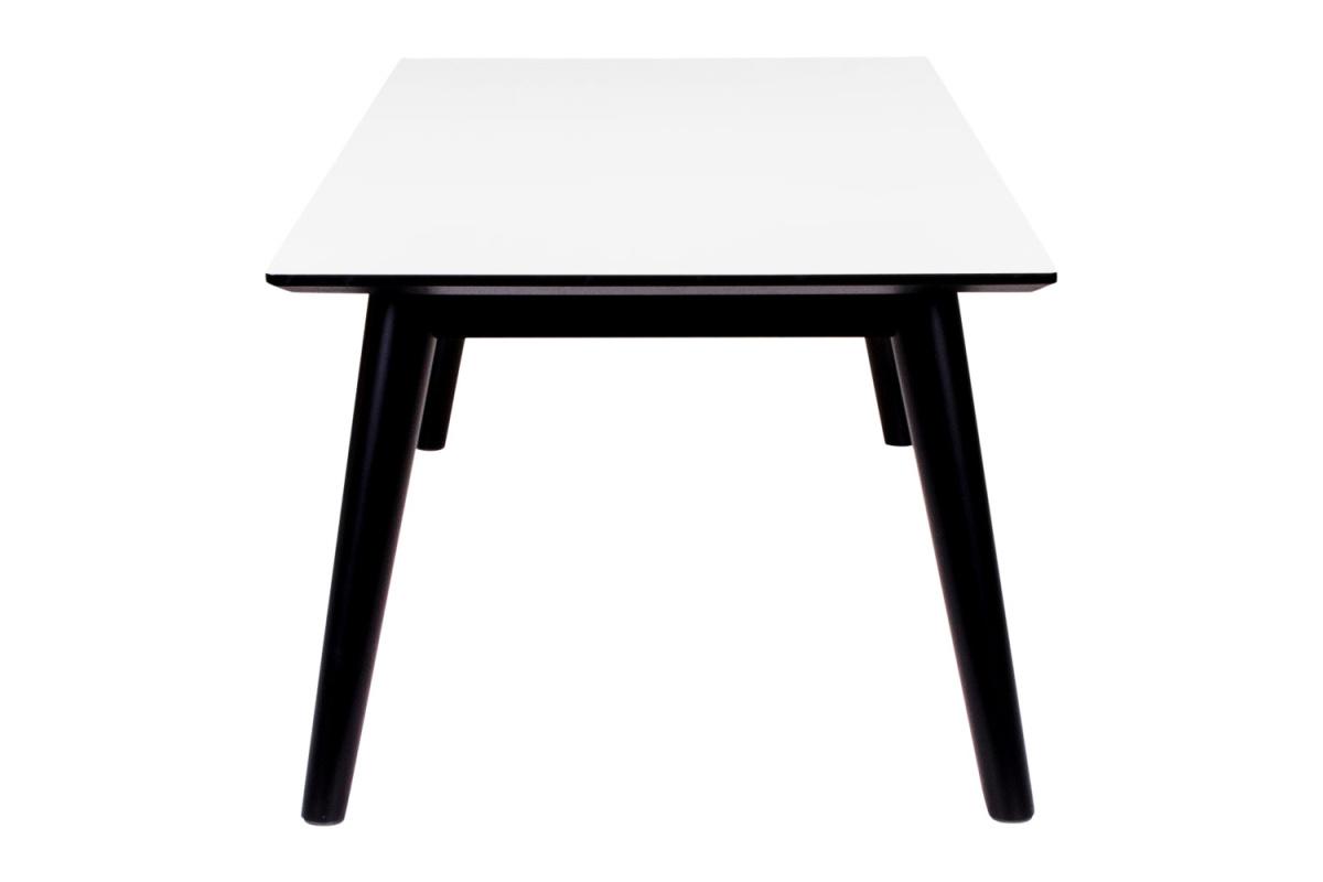 Konferenční stolek Ronald, černo-bílý