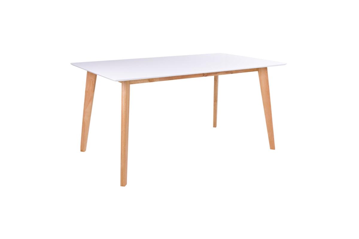 Designový jídelní stůl Carmen 210, přírodní / bílý