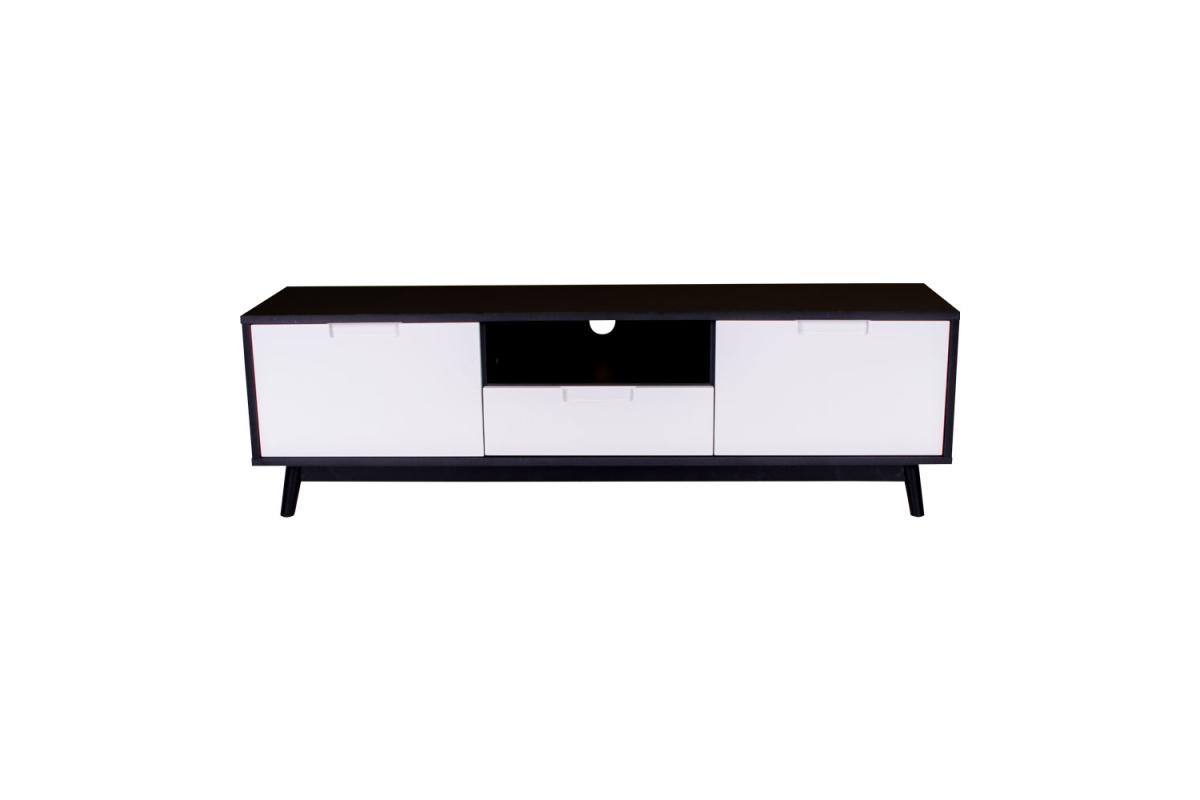 TV stolek Ronald, černá / bílá