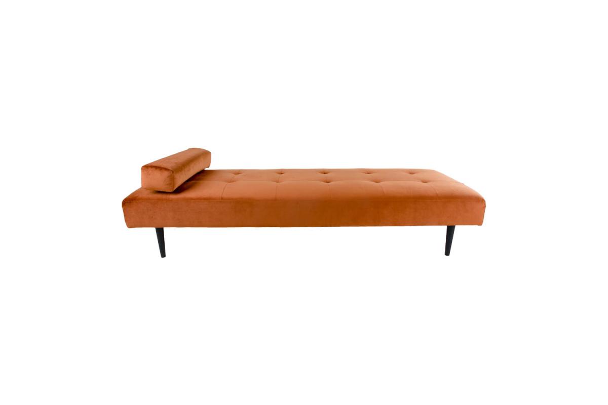 Designová pohovka Riley, oranžový samet