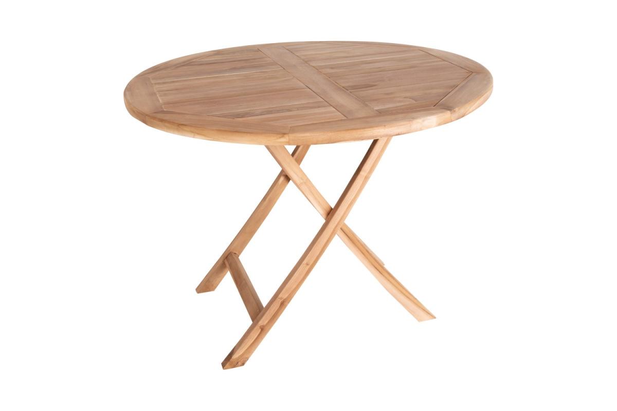 Zahradní stůl Mekhi, teak, kulatý