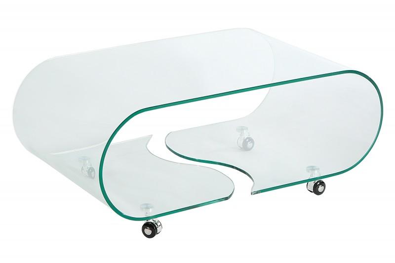 Skleněný konferenční stolek Phantom 90 cm