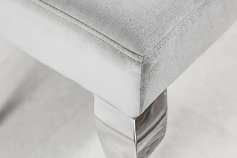 Designová lavice Rococo, 170 cm, šedá