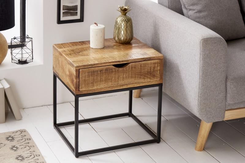 Designový noční stolek Thunder, 45 cm, mango
