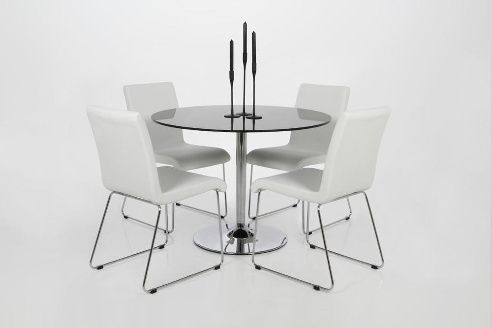 Kulatý jídelní stůl Nazelli sklo